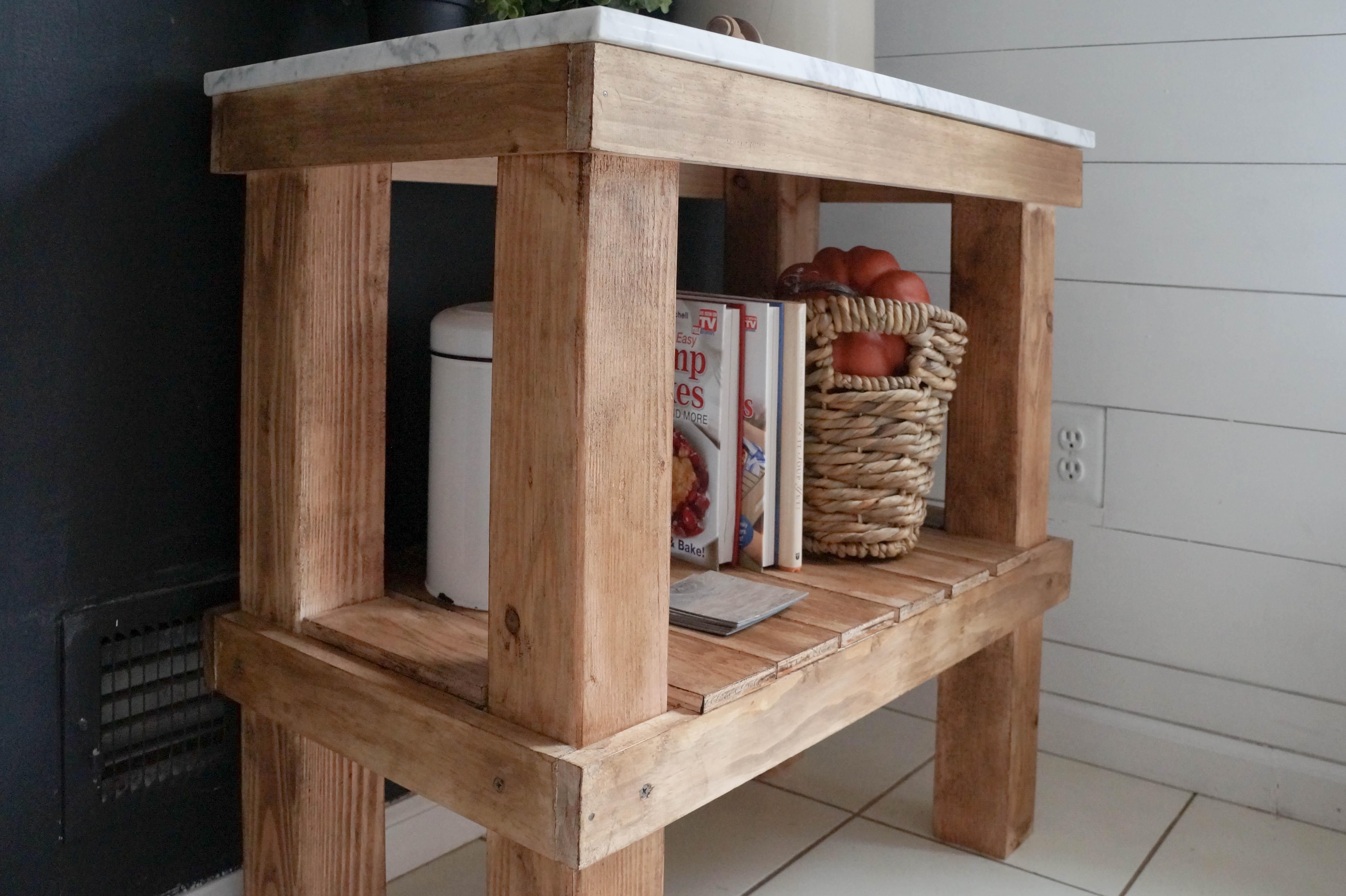 diy rustic bar. DIY Rustic Cart 3 Kitchen  with Marble Top Seeking Lavendar Lane