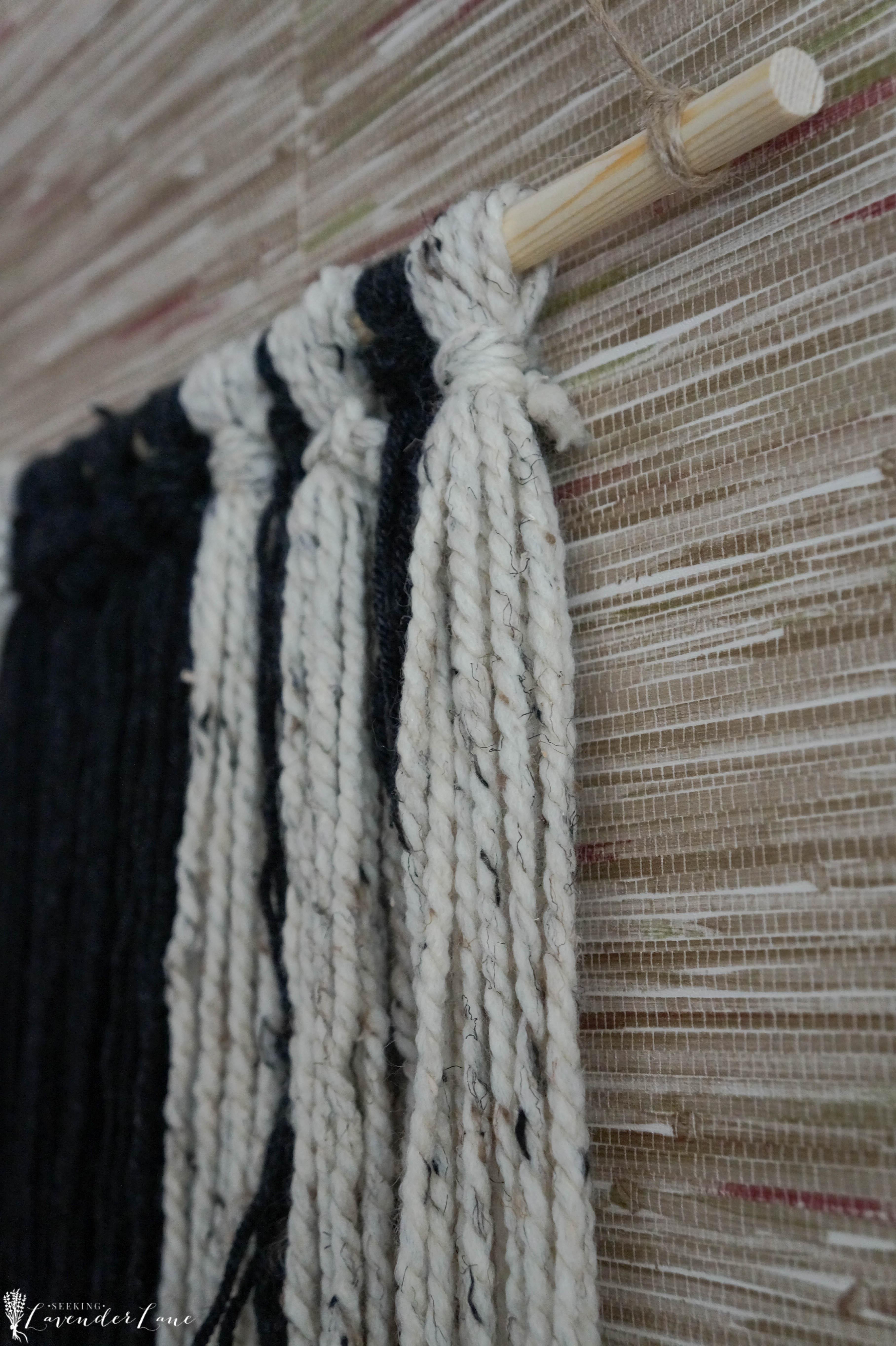 Easy Diy Yarn Hanging Seeking Lavendar Lane
