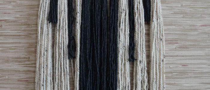 Easy DIY Yarn Hanging