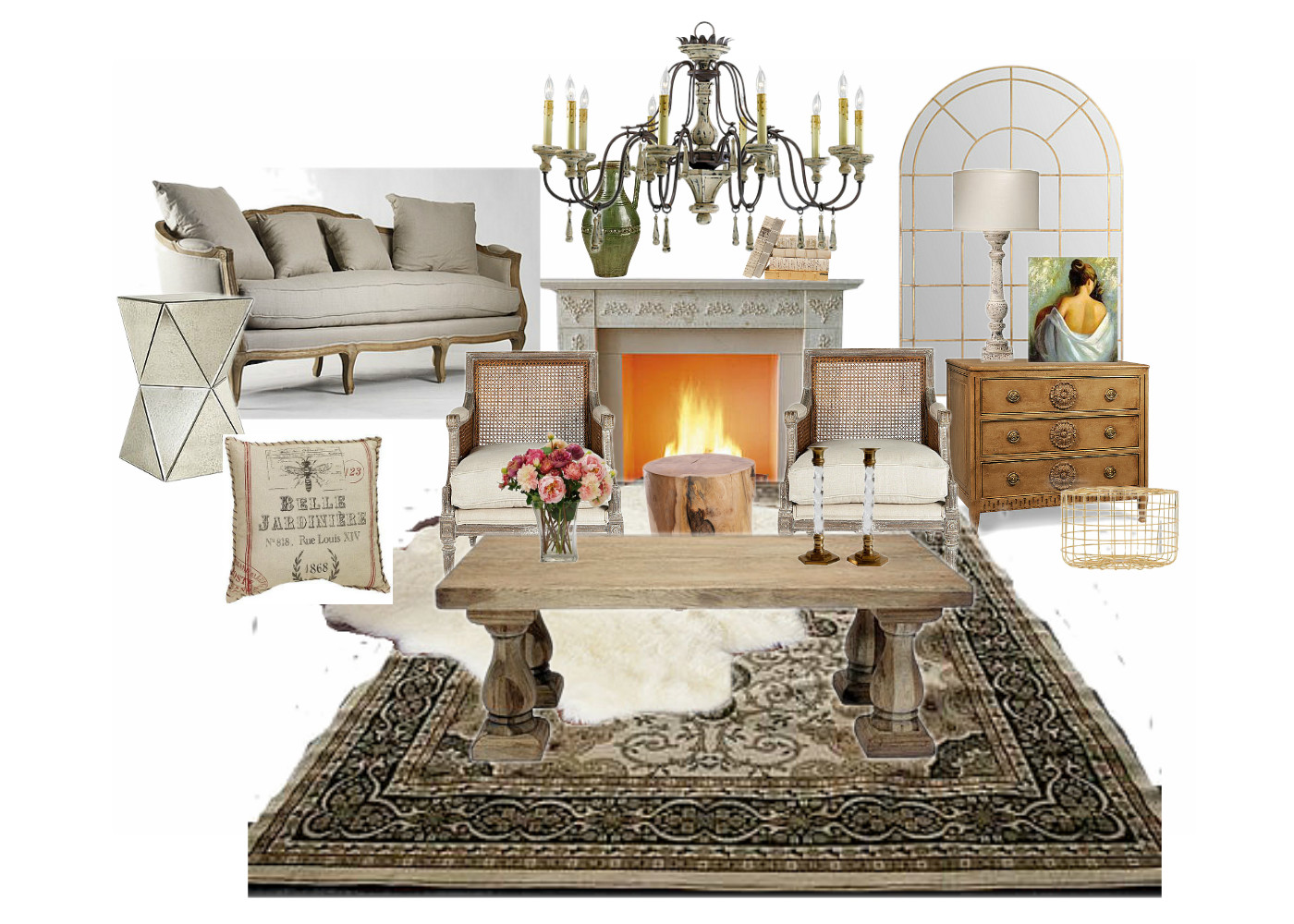 French glam living room seeking lavendar lane for French chic living room