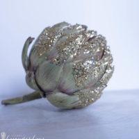 Glitter Artichoke Decor