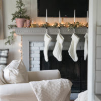French Cottage Christmas Mantel