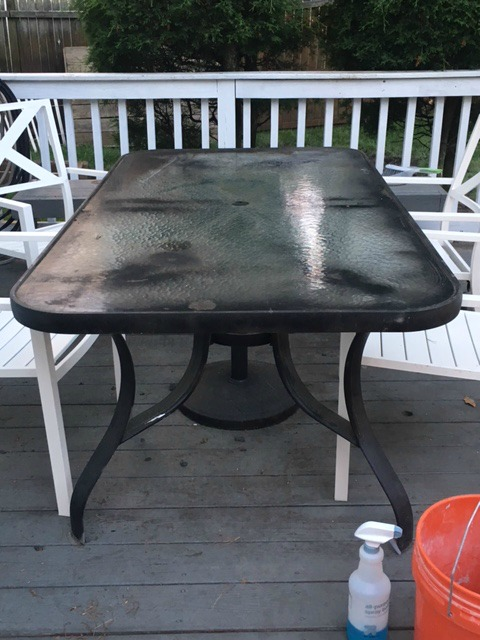Our Original Makeover On This Table I Spray Painted The Table With Black  Spray Paint. Considering The Piece Was Slightly Chippy From It Being So  Old, ...