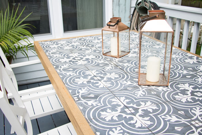 diy tile tabletop tutorial