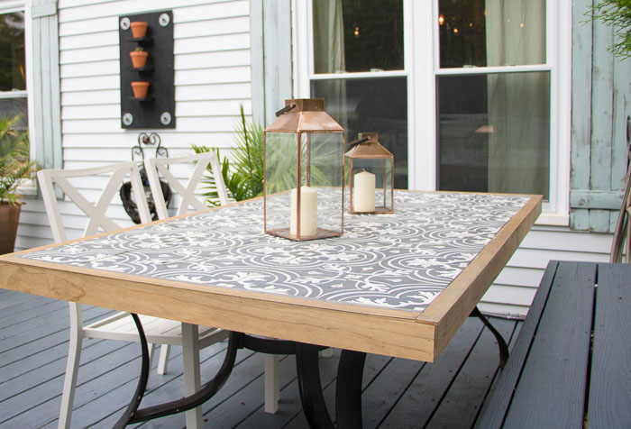 Diy Tile Tabletop Seeking Lavendar Lane