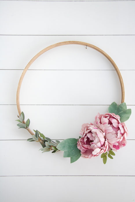 Diy Embroidery Hoop Wreath Seeking Lavendar Lane
