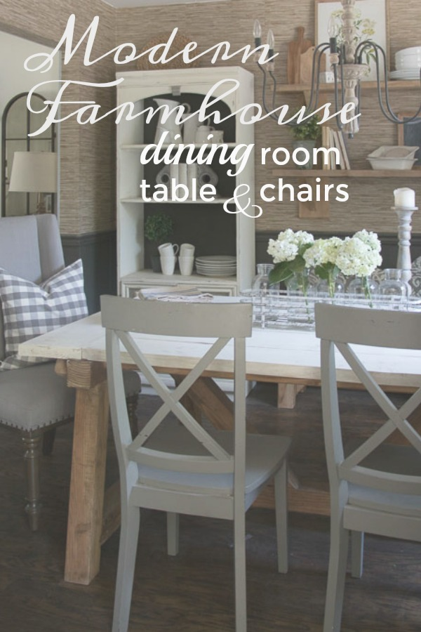 Farmhouse Dining Room Table and Chairs Seeking Lavendar Lane