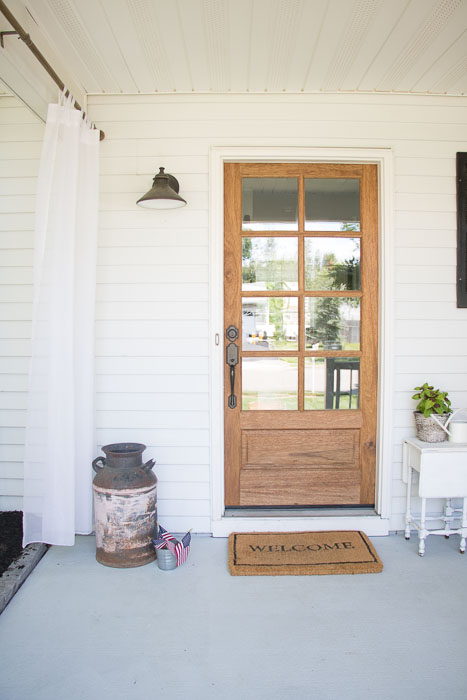 Front Porch Ideas Small Front Porch Makeover Seeking Lavendar Lane - Front porch makeover ideas