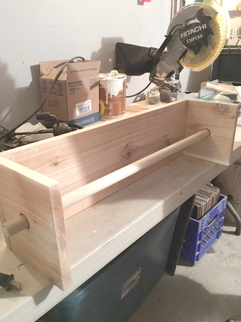 Adding Wooden Dowel to Butcher Paper Holder